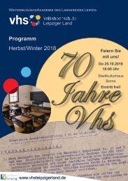 Kursprogramm-VHS Leipziger Land Herbst-Winter 2018