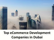 Top eCommerce Development Companies in Dubai
