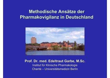 Methodische Ansätze der Pharmakovigilanz in Deutschland - BIPS
