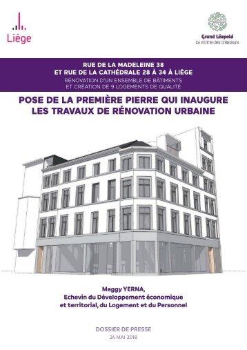 Travaux de rénovation urbaine rue de la Madeleine et rue de la Cathédrale