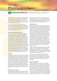 GfBK-Info: Prostatakrebs - Gesellschaft für Biologische Krebsabwehr ...