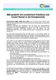 PM BBK gestärkt 6.11.2012.pdf - Bundesverband Biogene und ...