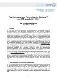 Positionspapier zur EEG Novelle 2011/2012 - Fachverband Biogas ...
