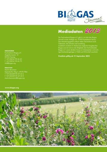 Mediadaten - Fachverband Biogas e.V.