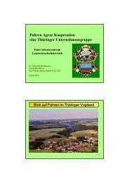 Pahren Agrar Kooperation eine Thüringer Unternehmensgruppe
