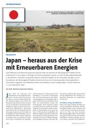 Japan – heraus aus der Krise mit Erneuerbaren Energien