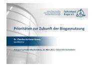 Prioritäten zur Zukunft der Biogasnutzung - Fachverband Biogas e.V.