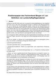 Positionspapier des Fachverband Biogas e.V. zur Definition von ...