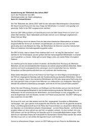 Herrn Dr. Christof Eichert - Deutscher Bibliotheksverband e.V.