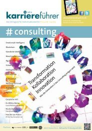 karriereführer consulting 2018.2019: Transformation, Kollaboration, Innovation