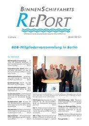 kurz gemeldet - Bundesverband der Deutschen Binnenschiffahrt