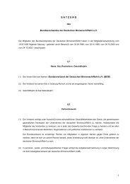 S A T Z U N G - Bundesverband der Deutschen Binnenschiffahrt