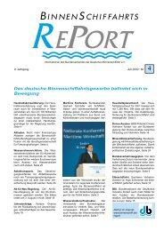 Das deutsche Binnenschiffahrtsgewerbe befindet sich in Bewegung