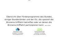 Förderprogramme 05 2006  - Bundesverband der Deutschen ...