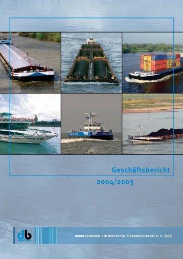 Geschäftsbericht 2004/2005 - Bundesverband der Deutschen ...