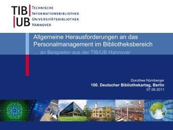 100. Deutscher Bibliothekartag, Berlin - Deutscher ...