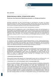 Nutzerinteressen stärken, Urheberrechte wahren - Deutscher ...