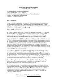 Protokoll der Mitgliederversammlung am 22. Oktober 2001 in