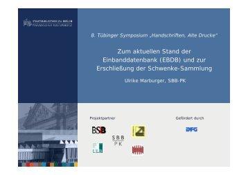 (EBDB) und zur - Deutscher Bibliotheksverband e.V.
