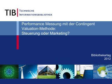 Contingent Valuation Method - Deutscher Bibliotheksverband e.V.