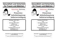 Gesundheit und Sicherheit für Frauen und Mädchen Gesundheit ...