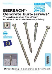 BiERBACH®- Concrete Euro-screws* - BiERBACH GmbH & Co. KG ...