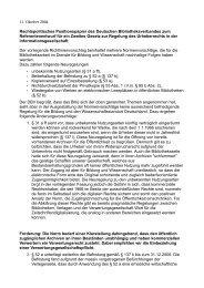 Referentenentwurf für ein Zweites Gesetz zur Regelung