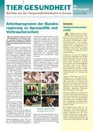 BfT Mit der Ablösung der traditio - Bundesverband für Tiergesundheit