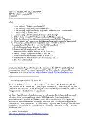 02.01.2007 dbv-Newsletter Ausgabe Nr. 103 - Deutscher ...