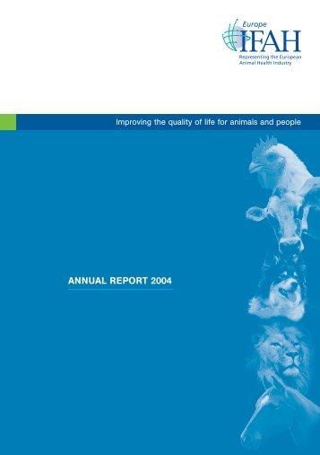 ANNUAL REPORT 2004 - Bundesverband für Tiergesundheit