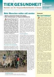 BfT Die Gesundheit landwirtschaft - Bundesverband für Tiergesundheit