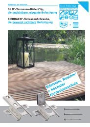 BiLO -Terrassen-DielenClip, die unsichtbare, elegante Befestigung