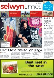 Selwyn Times: May 30, 2018