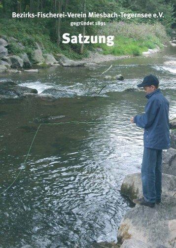 Satzung - Bezirksfischereiverein Miesbach - Tegernsee eV