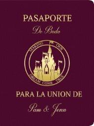 Pasaporte de Boda Pam & Jenn