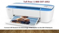 1-800-597-1052 Connect HP DeskJet Ink Advantage 3700 Printer to the Wi-Fi Network