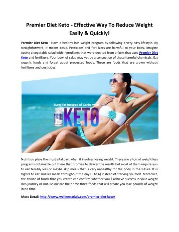Premier Diet Keto - Reduce Extra Weight & Feel Energetic!