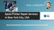 Epson Printer Repair in New York City Contact us @ +1 838-800-0650 for Any Help