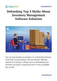Debunking Top 5 Myths About Inventory Management Software Solutions