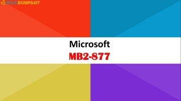 MB2-877 Braindumps