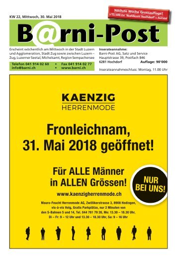 Barni-Post, KW 22, 30. Mai 2018