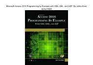 E-Book Microsoft Access 2016 Programming By Example: with VBA, XML, and ASP by Julitta Korol