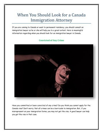When You Should Look for a Canada Immigration Attorney