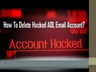 1-800-213-3740 | Delete Hacked AOL Mail Account