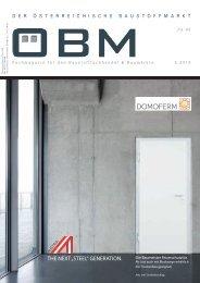 2018-5 OEBM Der Österreichische Baustoffmarkt - DOMOFERM The Next Steel Generation