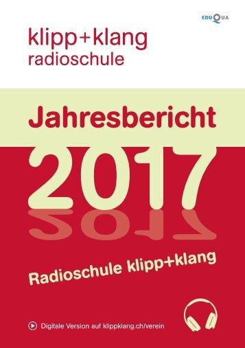 Jahresbericht 2017 – Radioschule klipp+klang