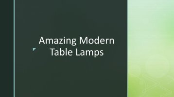 Best Table Lamps For Any Room