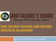 Find the best Packers and Movers service in Allahabad