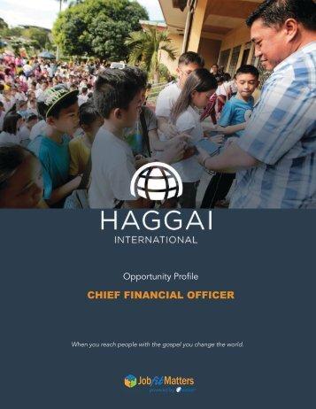Haggai CFO Opportunity Profile 2018