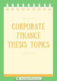 Corporate Finance Thesis Topics